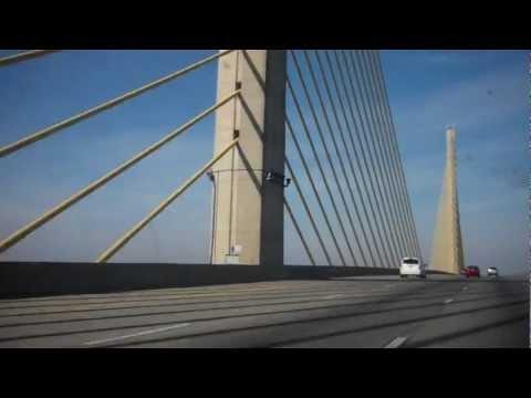 Crossing the William V Roth Junior Bridge 01/10/13