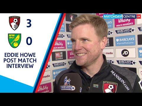 Bournemouth 3-0 Norwich City : Eddie Howe Interview