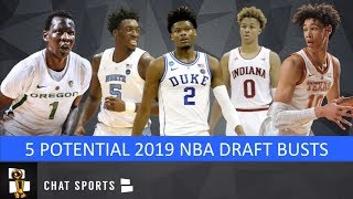 5 2019 NBA Draft Lottery Picks Destined To Be Busts