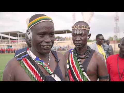 South Sudan 'Peace Wrestling'