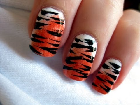 Tiger Nail Art - Tiger Nail Art - YouTube