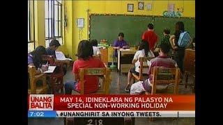 May 14, idineklara ng palasyo na special non-working holiday
