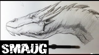 How to Draw Smaug from The Hobbit - Easy Things to Draw