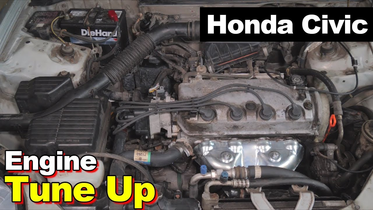 2000 honda civic 1 6l exhaust manifold catalytic converter tune up spark plugs wires cap rotor [ 1280 x 720 Pixel ]