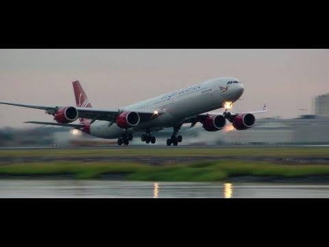 Virgin A340-600 Sweet Takeoff