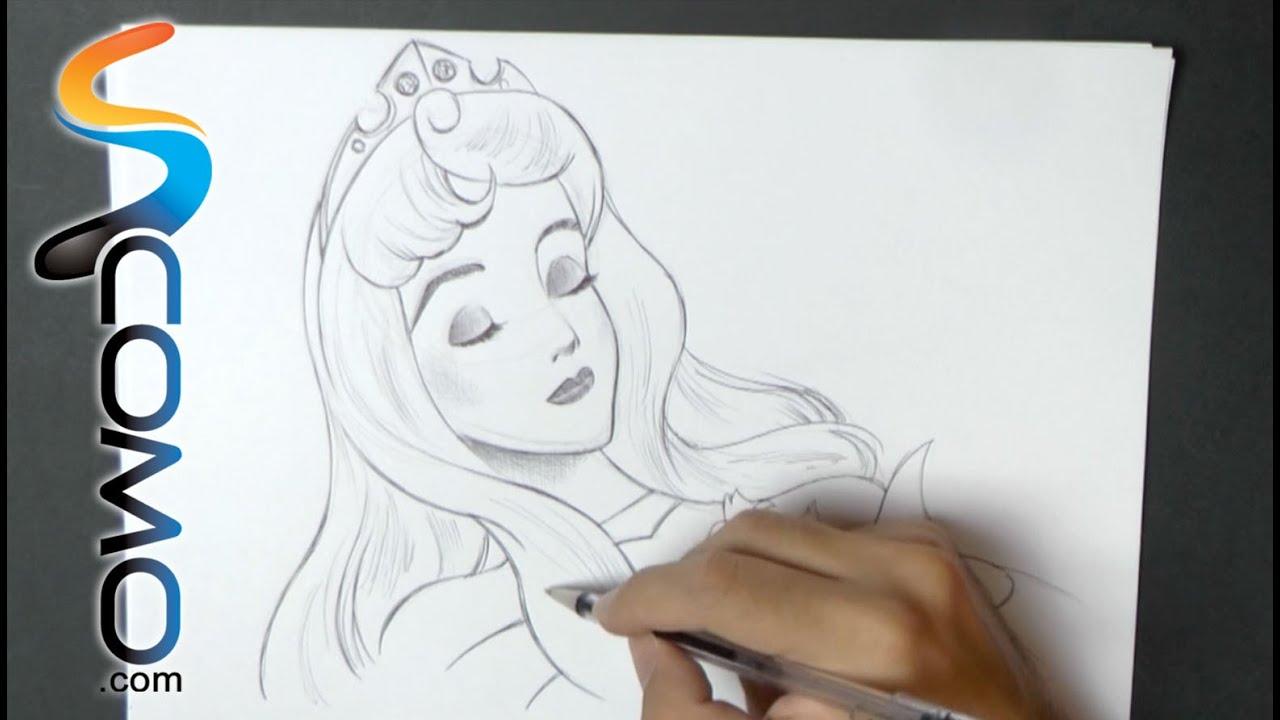 Dibujar A La Bella Durmiente De Disney