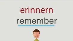erinnern auf englisch