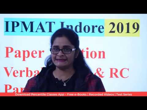 IPMAT 2019 Original Solved Paper | Verbal Ability Part 02| IPMAT Past Year Solved Papers -IIM Indore