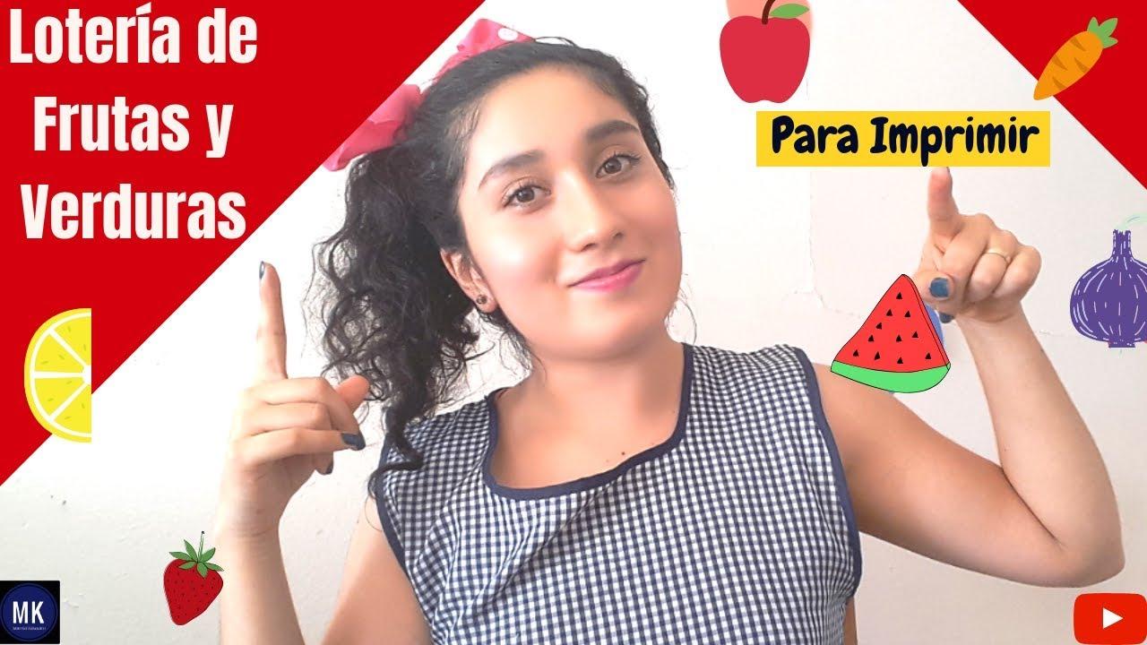 Lotería De Frutas Y Verduras Lotería Para Imprimir