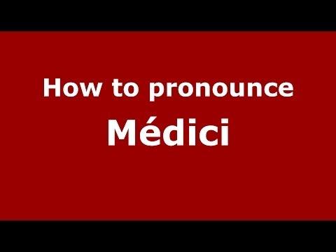 How To Pronounce Médici (Brazilian Portuguese/Brazil)  - PronounceNames.com