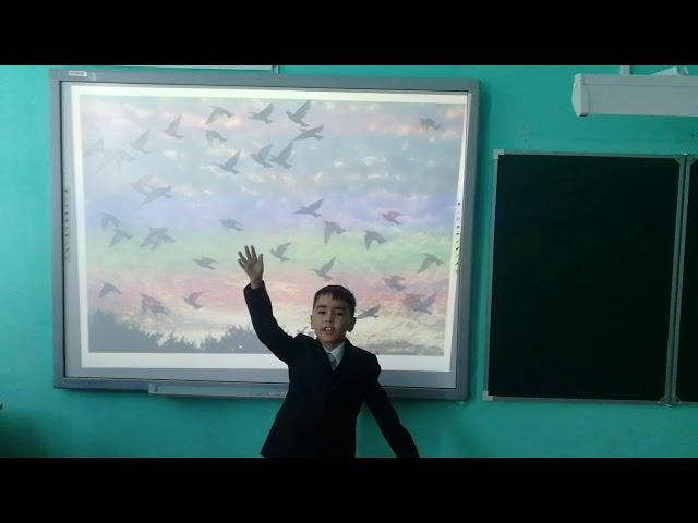 Изображение предпросмотра прочтения – ДинисламУзянбаев читает произведение «Весна (Зима не даром злится…)» Ф.И.Тютчева