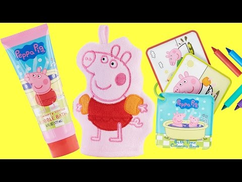Pig Bubble Bath Soap, Mitt & Crayons