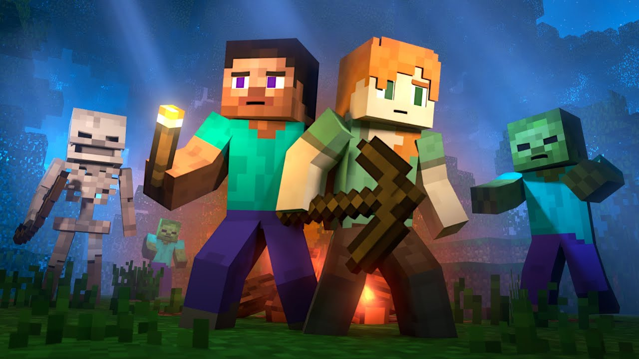 SURVIVAL - Alex and Steve Life (Minecraft Animation)