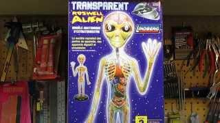 Lindberg Transparent Roswell Alien Figure Model Kit Review Kit # 76...