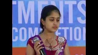 Hamsini performing at stage program (Hindi Songs)