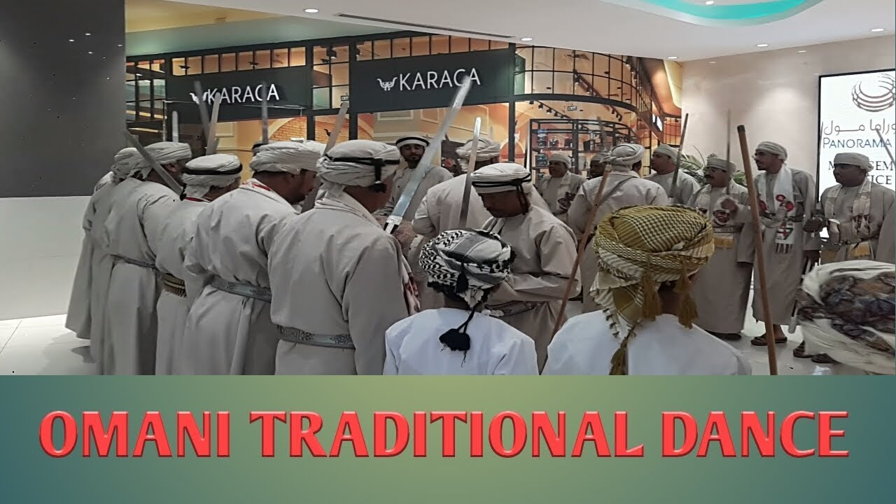 Omani Traditional Dance in Panorama Mall Muscat