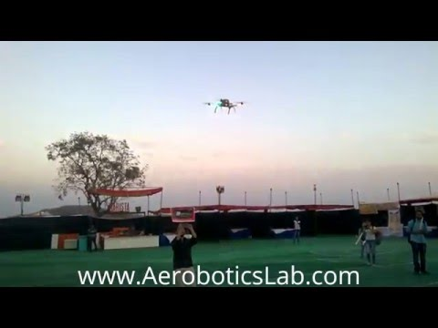 Drone flying @fluxus'16,  IIT indore campus by Aerobotics Lab