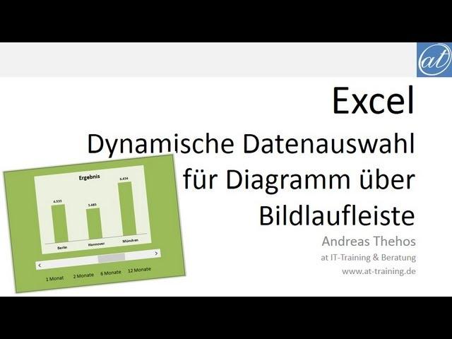 Excel – Diagramm per Bildlauf anpassen | at Excel - Andreas Thehos