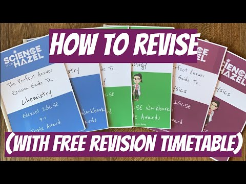 FREE Revision Timetable (And How To Plan Your Revision) - SCIENCE WITH HAZEL
