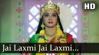 Jai Laxmi Jai Laxmi Gair Kaanooni Songs Sridevi Songs Devotional Song