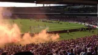 Perth Glory Goal Celebration V Brisbane Roar 2012 Featuring Smoke