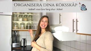 Organisera dina köksskåp - hemma hos Isabell