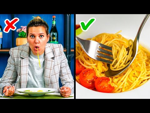 30 WAYS TO EAT YOUR FAVORITE FOOD || Etiquette Manners by 5-Minute Recipes
