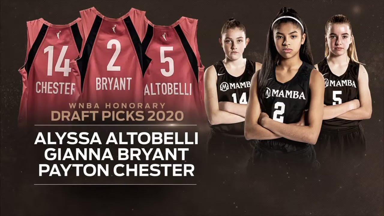 Gianna Bryant, Alyssa Altobelli and Payton Chester named honorary ...