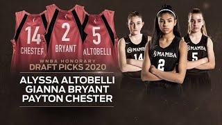 Gianna Bryant, Alyssa Altobelli and Payton Chester named honorary WNBA draft picks | ESPN