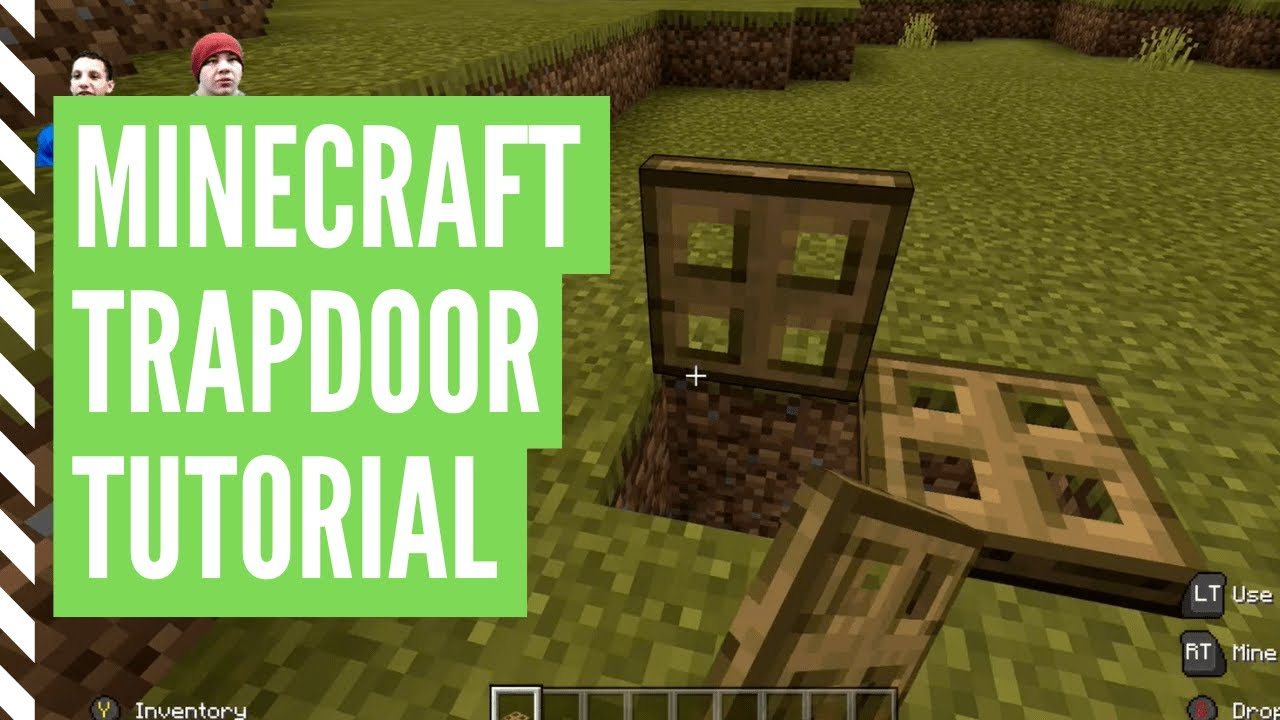 How To Make A TRAPDOOR In Minecraft (And Use It)