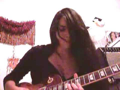 Girl guitarist plays Santana