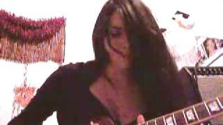 Girl guitarist plays Santana