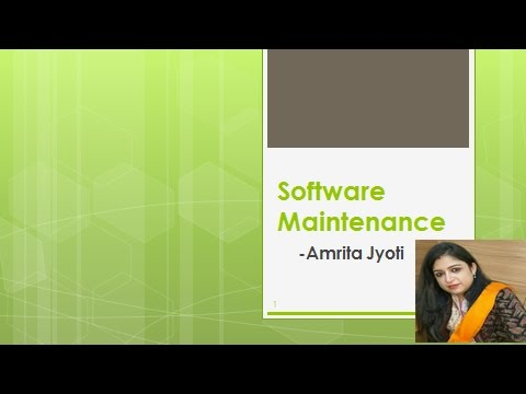 Software Maintenance By Amrita Jyoti (Software Engineering)