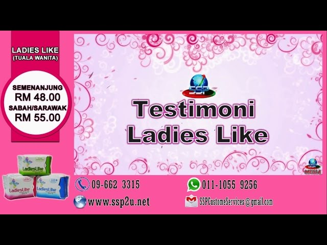 Testimoni SSP 3 (Ladies Like - Tuala Wanita)