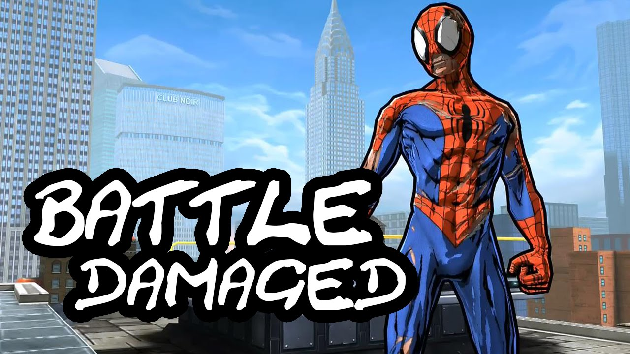Spider-Man Unlimited: Battle Damaged Suit Overview/Showcase - YouTube