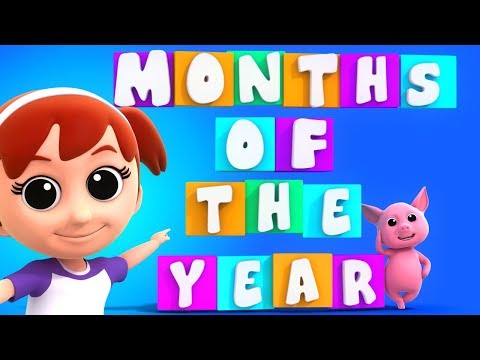 Months Of The Year Song | Educational Video | Nursery Rhymes | Baby Songs For Kids