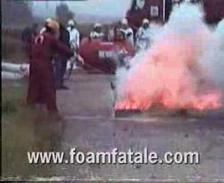TEAL FIRE EXTINGUISHED BY IFEXORB-FOAMFATALE - YouTube