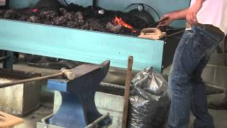 yorkshire show 2013 h s 1 horseshoe making forging of a horseshoe