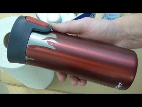 How to remove the damaged coating from a stainless steel travel mug