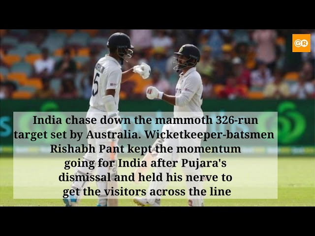 India vs Australia 4th Test: India create history, win Gabba Test