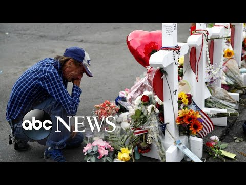 Massive turnout as community supports man whose wife was killed in El Paso shooting  ABC News