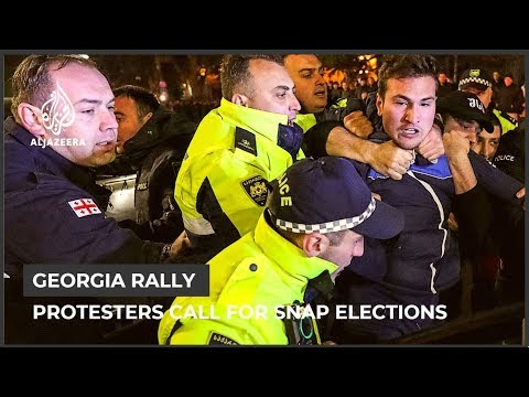 Georgia protesters want the gov't to resign and hold new elections