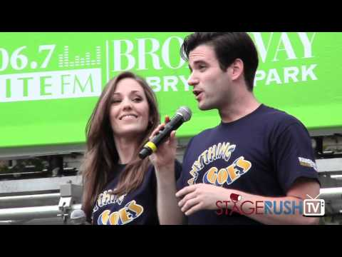 Laura Osnes and Colin Donnell sing