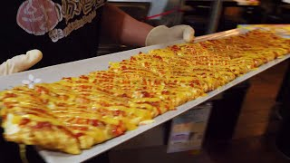 69cm big cheese egg gyeranmari (대왕 치즈 계란말이, 卵焼き , 鸡蛋卷) / korean street food / 부산 경성대 왕빈자삼파전