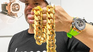 Making a 1 Kilo Gold Cuban Link Chain - This Process is Insane!