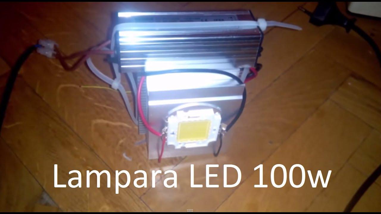 Como hacer una lampara led de alta potencia 100w por menos for Lamparas halogenas led