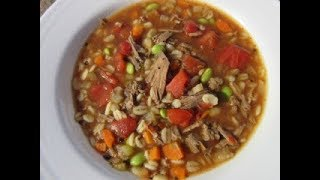 BEEF BARLEY SOUP - How to  make BEEF BARLEY SOUP Demonstration Recipe