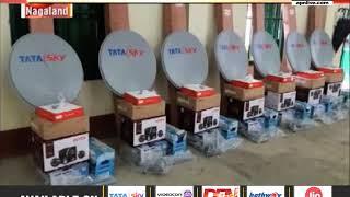 Advisor YRS distributes free projectors, satellite TV sets in Nagaland