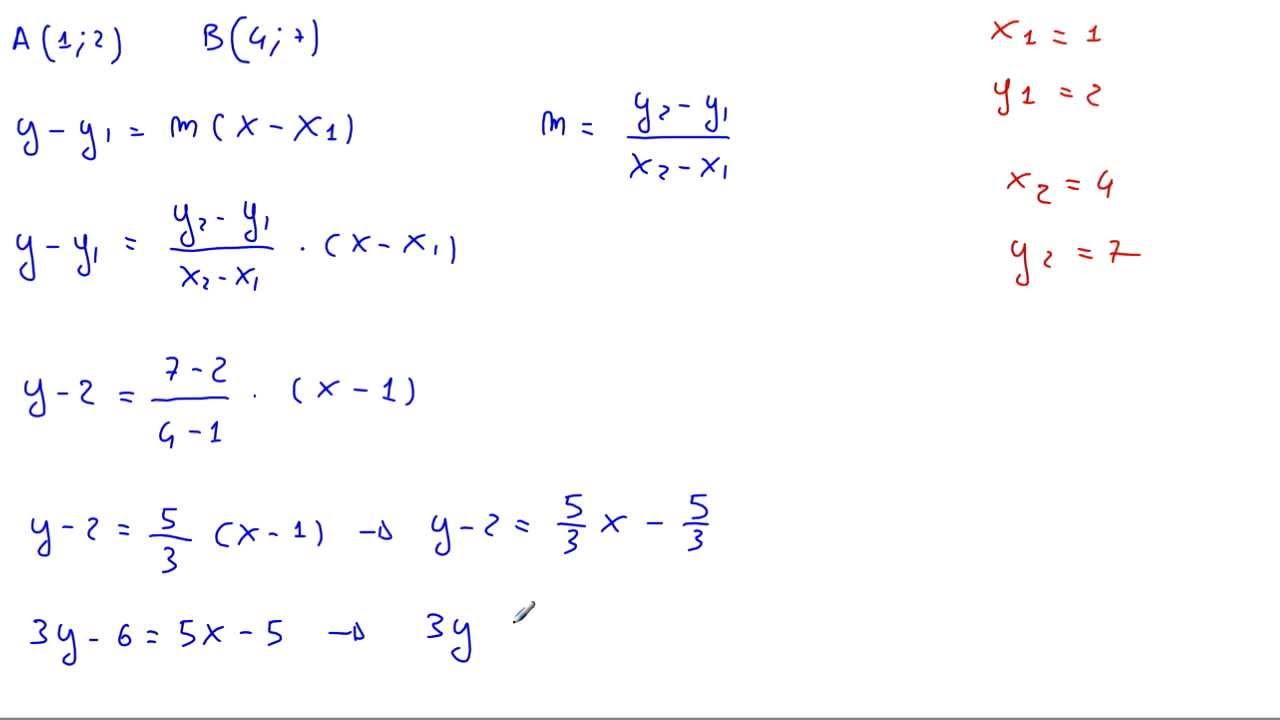 determinare l 39 equazione della retta passante per i punti a