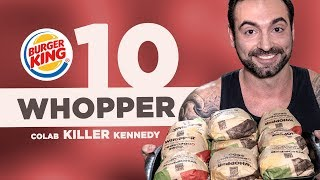 Desafio dos 10 WHOPPERS do BK! [Recorde mundial??] (Colab Killer Kennedy)